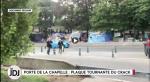 """Envie d'un camping original pour vos vacances? Essayez """"La colline du Crack"""" Porte de la Chapelle à Paris"""