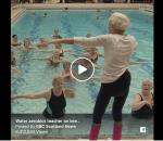 A 90 ans elle donne des cours d'Aquagym! 👏👏👏